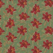 Moda Jelly Bean by Laundry Basket Quilts - 3251 - Dark Pink Floral on Green  42154 14